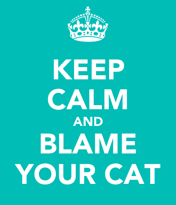 KEEP CALM AND BLAME YOUR CAT
