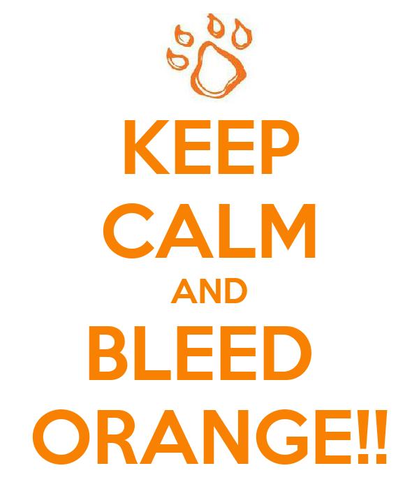 KEEP CALM AND BLEED  ORANGE!!