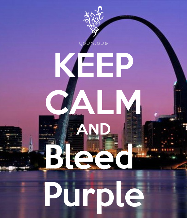 KEEP CALM AND Bleed  Purple