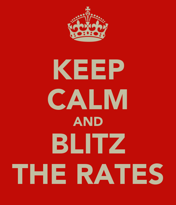KEEP CALM AND BLITZ THE RATES