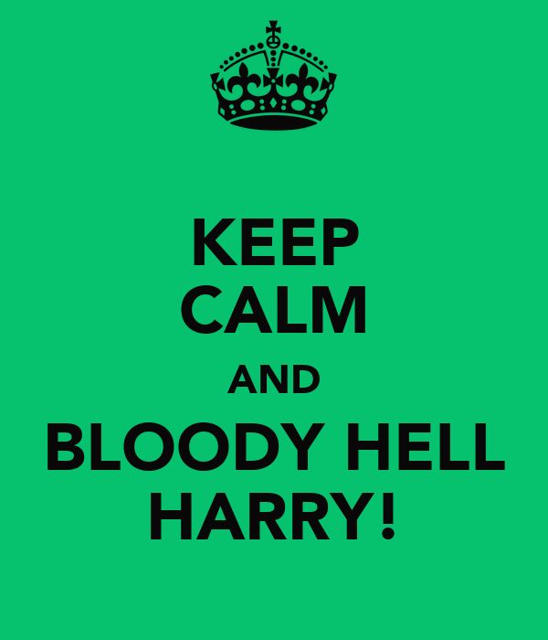 KEEP CALM AND BLOODY HELL HARRY!