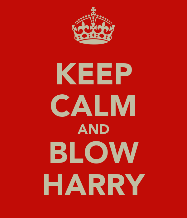 KEEP CALM AND BLOW HARRY