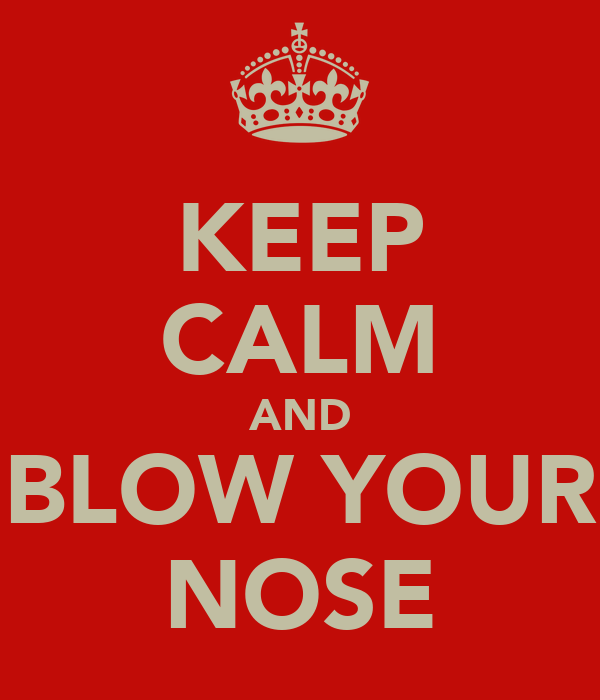 KEEP CALM AND BLOW YOUR NOSE