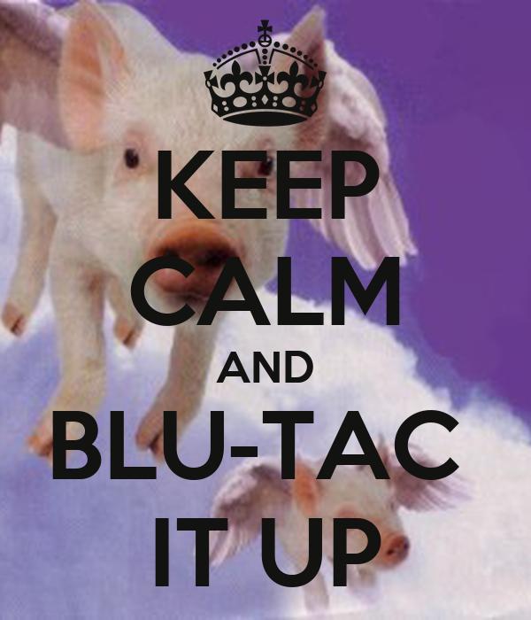 KEEP CALM AND BLU-TAC  IT UP
