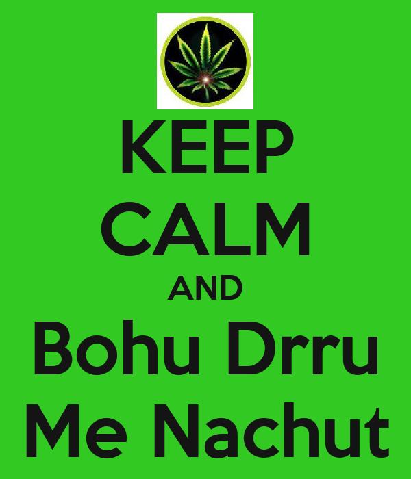 KEEP CALM AND Bohu Drru Me Nachut