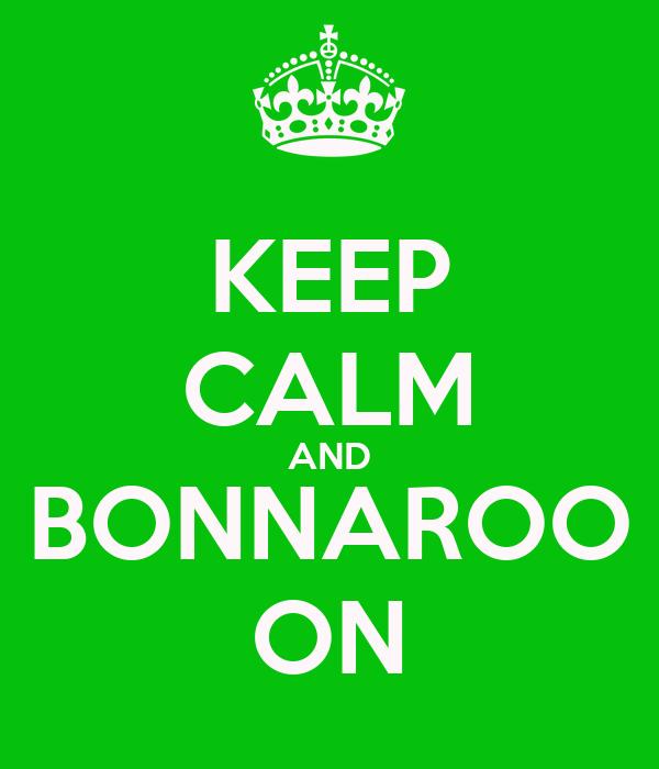 KEEP CALM AND BONNAROO ON