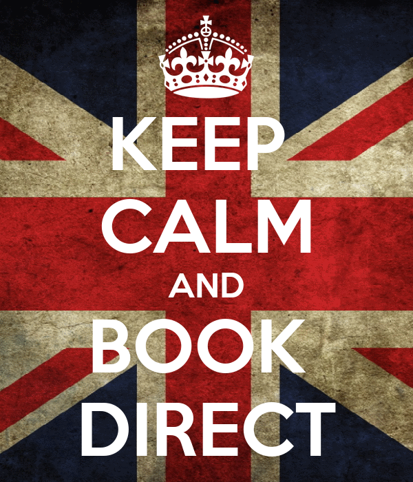 KEEP  CALM AND BOOK  DIRECT