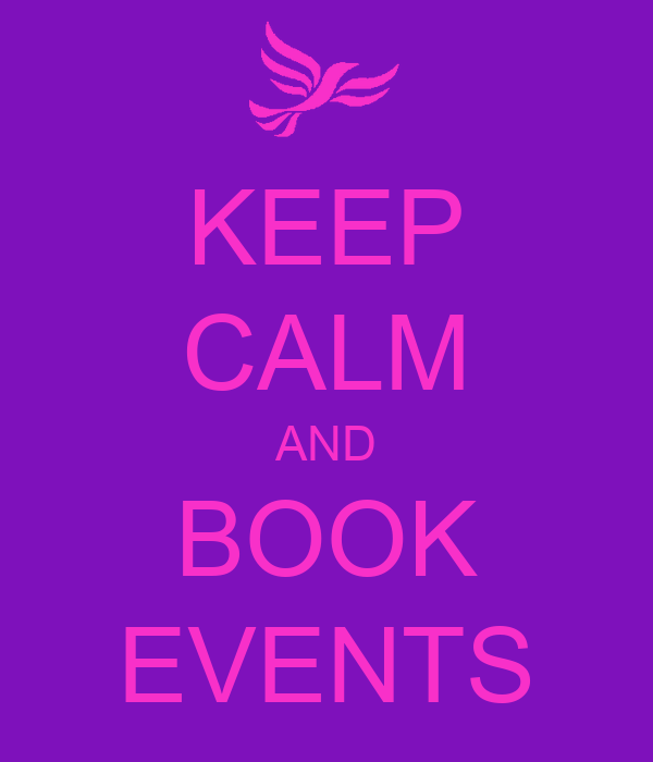 KEEP CALM AND BOOK EVENTS