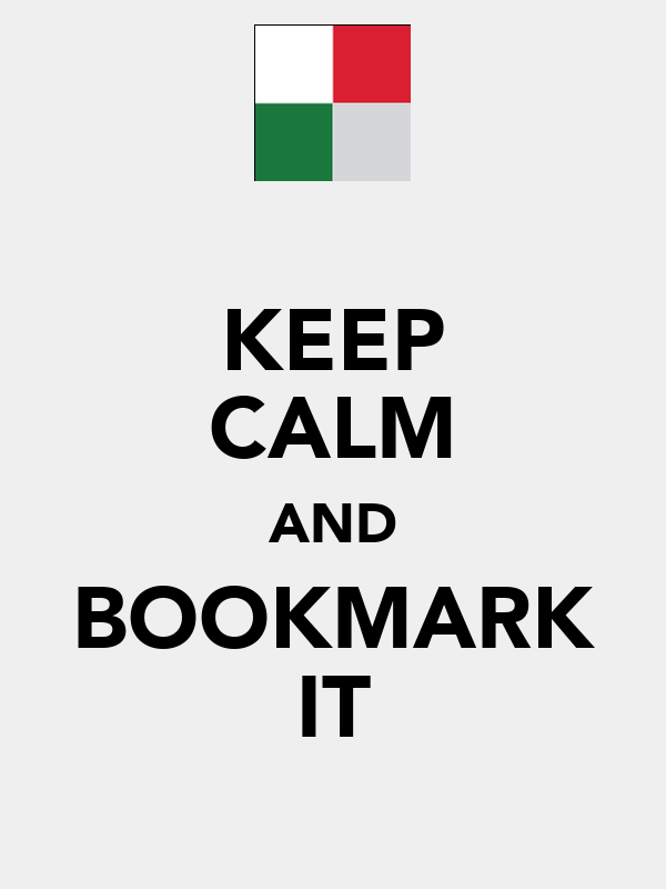 KEEP CALM AND BOOKMARK IT
