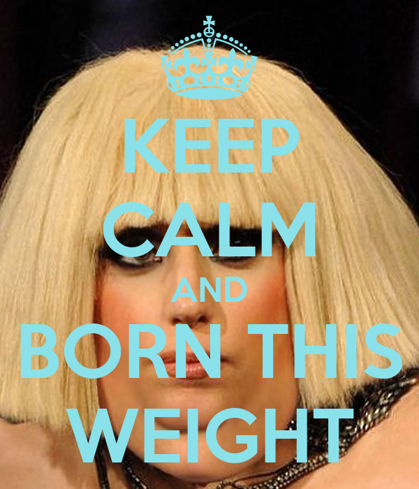KEEP CALM AND BORN THIS WEIGHT