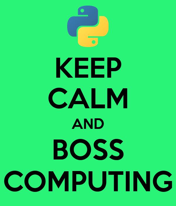 KEEP CALM AND BOSS COMPUTING