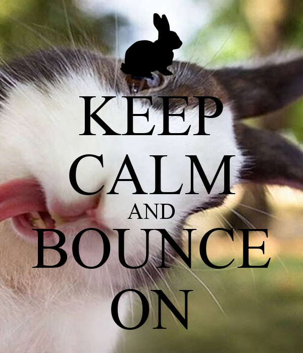KEEP CALM AND BOUNCE ON
