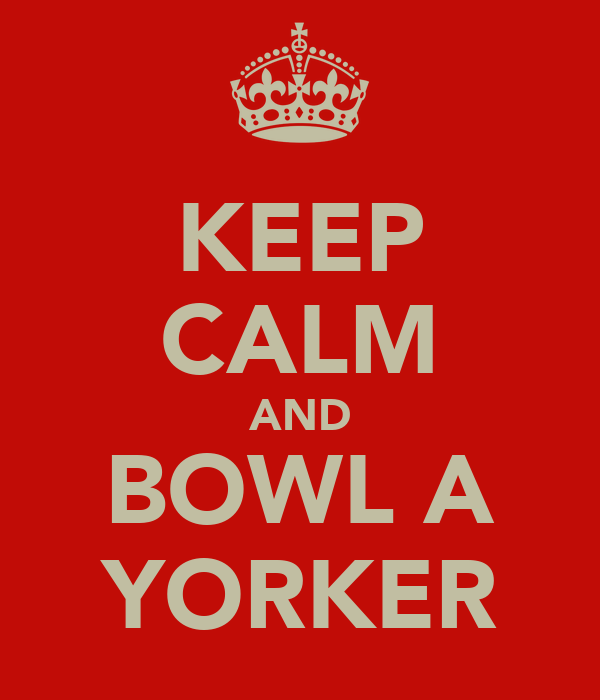 KEEP CALM AND BOWL A YORKER