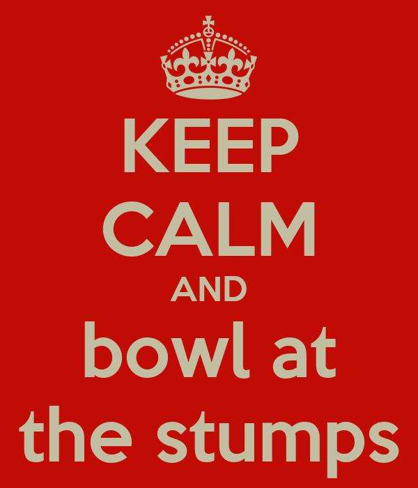 KEEP CALM AND bowl at the stumps
