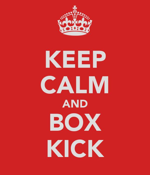 KEEP CALM AND BOX KICK
