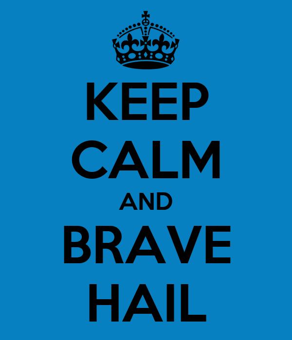 KEEP CALM AND BRAVE HAIL