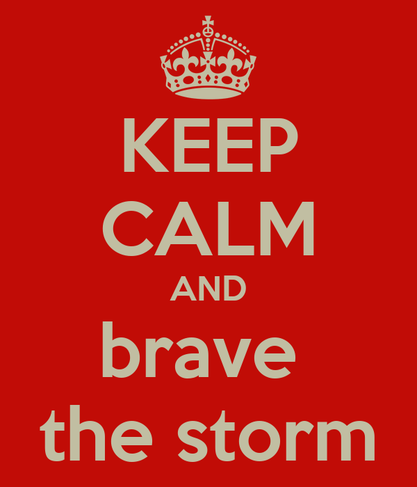 KEEP CALM AND brave  the storm