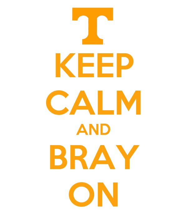 KEEP CALM AND BRAY ON