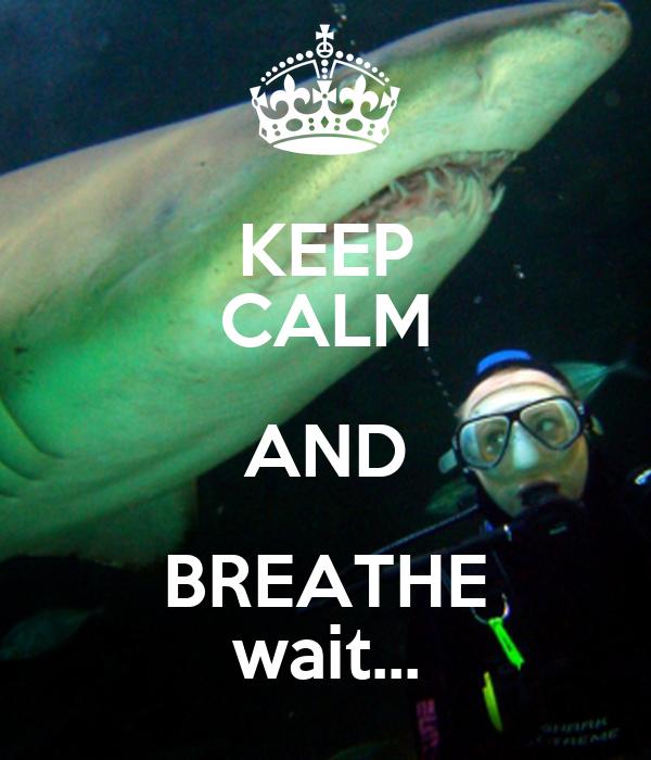 KEEP CALM AND BREATHE wait...