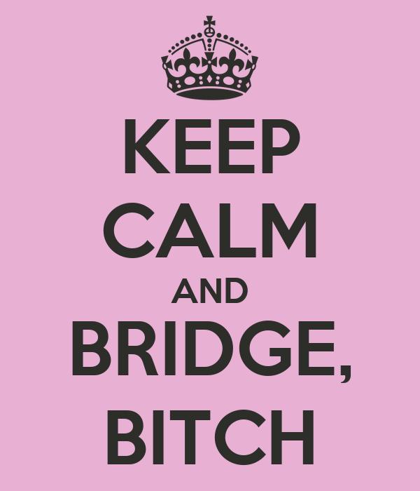 KEEP CALM AND BRIDGE, BITCH