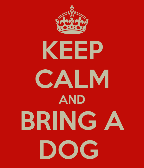 KEEP CALM AND BRING A DOG