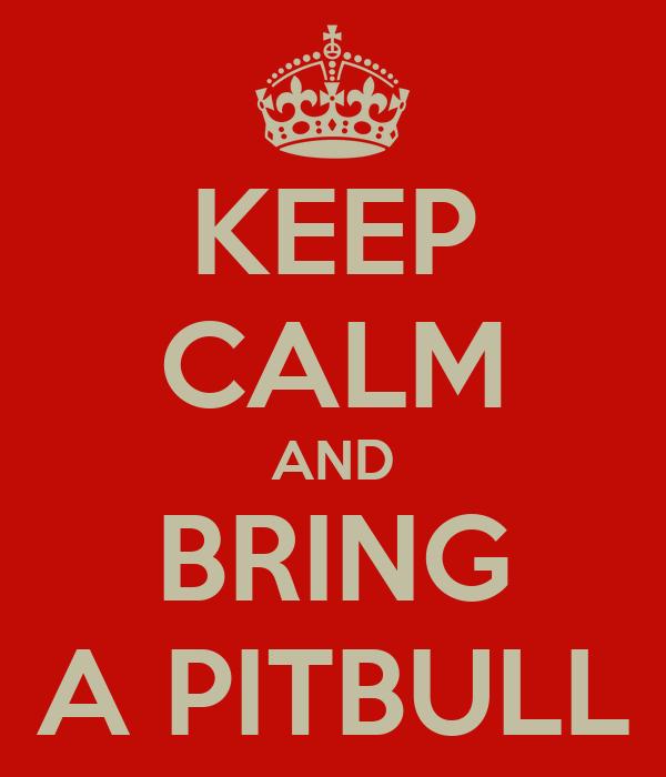 KEEP CALM AND BRING A PITBULL
