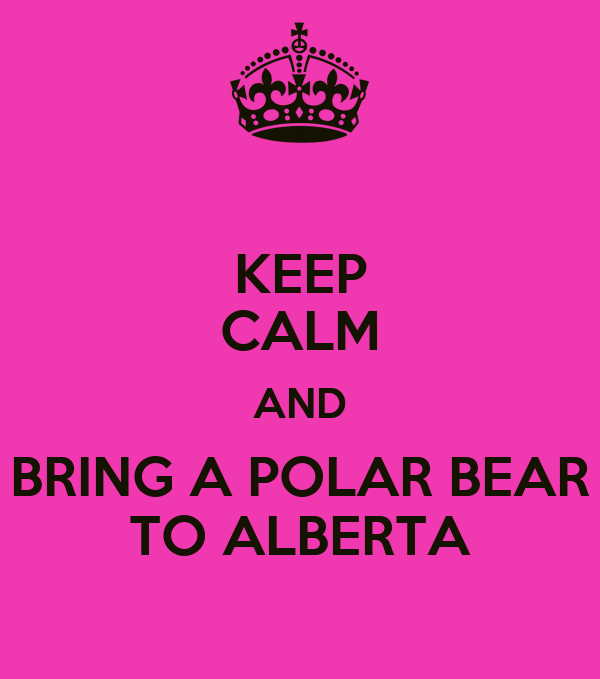KEEP CALM AND BRING A POLAR BEAR TO ALBERTA