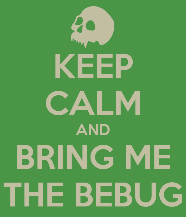 KEEP CALM AND BRING ME THE BEBUG