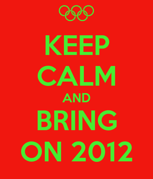 KEEP CALM AND BRING ON 2012