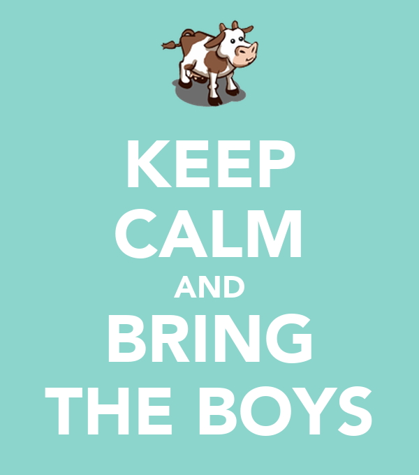 KEEP CALM AND BRING THE BOYS