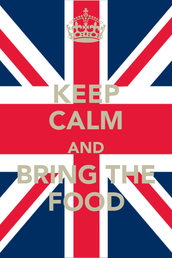 KEEP CALM AND BRING THE FOOD