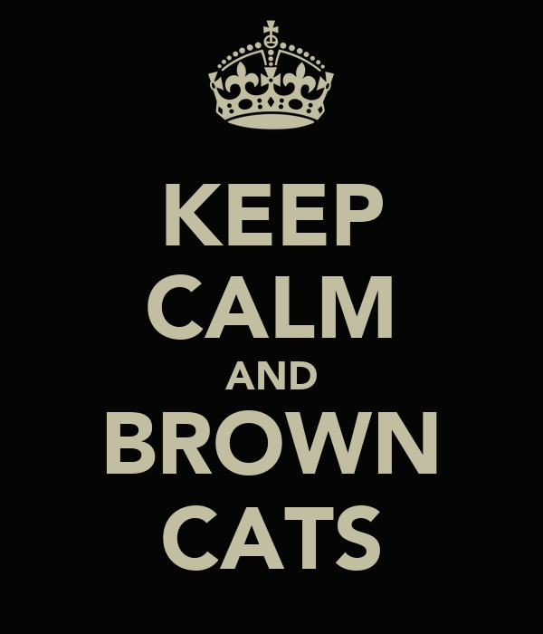 KEEP CALM AND BROWN CATS