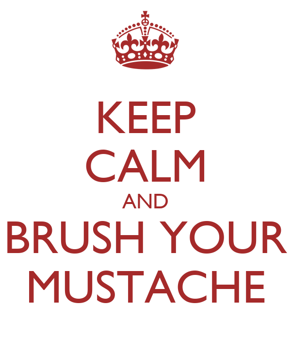 KEEP CALM AND BRUSH YOUR MUSTACHE