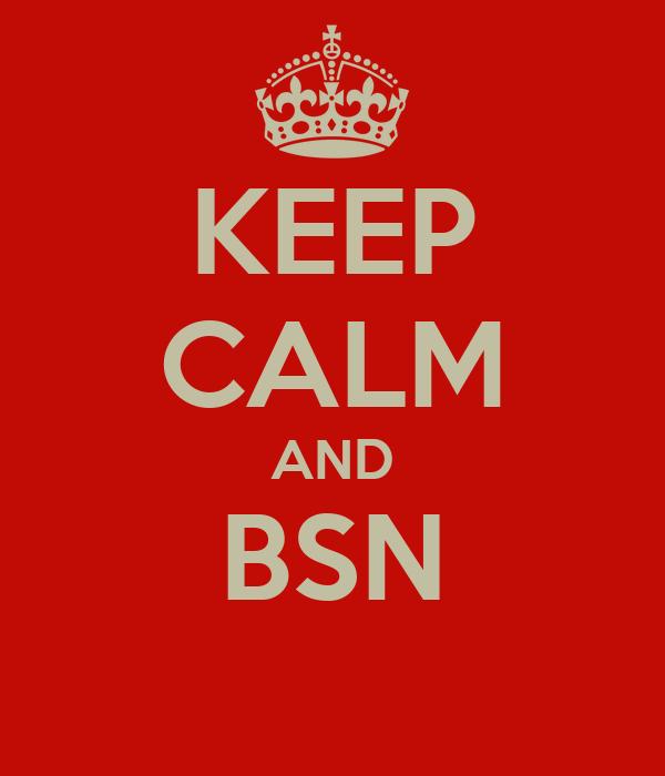 KEEP CALM AND BSN