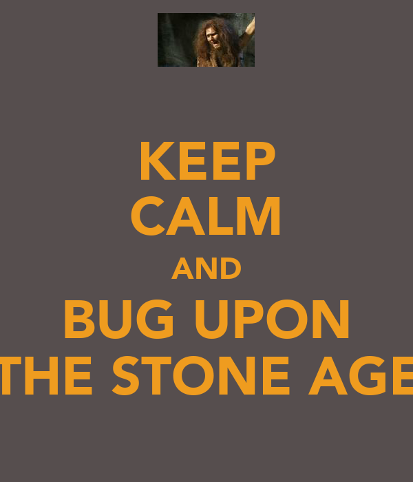 KEEP CALM AND BUG UPON THE STONE AGE