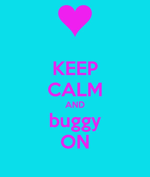 KEEP CALM AND buggy ON