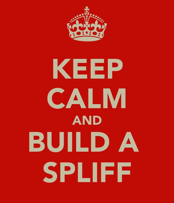 KEEP CALM AND BUILD A  SPLIFF