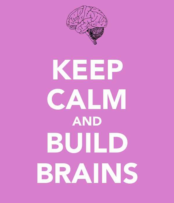 KEEP CALM AND BUILD BRAINS
