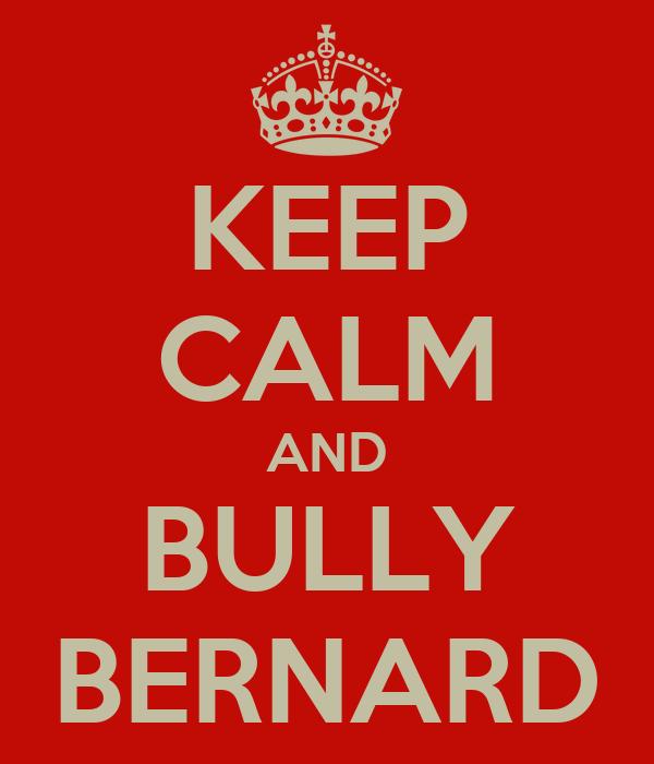 KEEP CALM AND BULLY BERNARD
