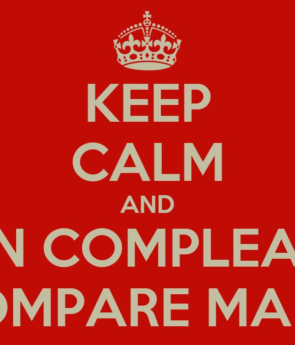 KEEP CALM AND BUON COMPLEANNO  COMPARE MARIO