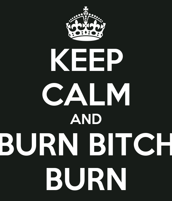 KEEP CALM AND BURN BITCH BURN