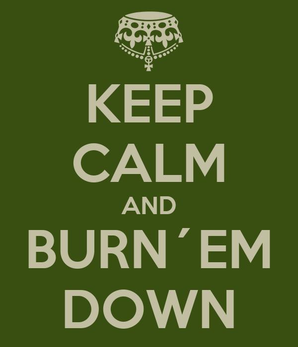 KEEP CALM AND BURN´EM DOWN