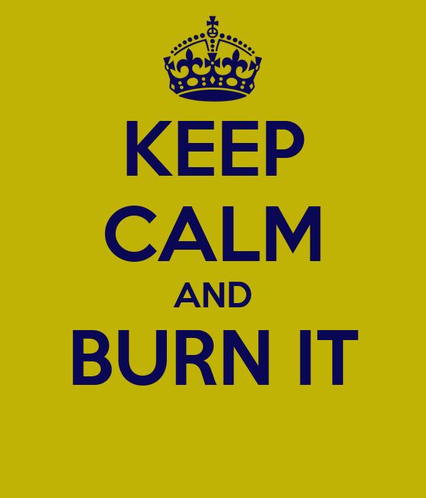 KEEP CALM AND BURN IT