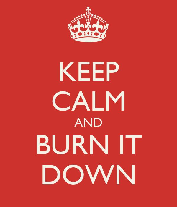 KEEP CALM AND BURN IT DOWN