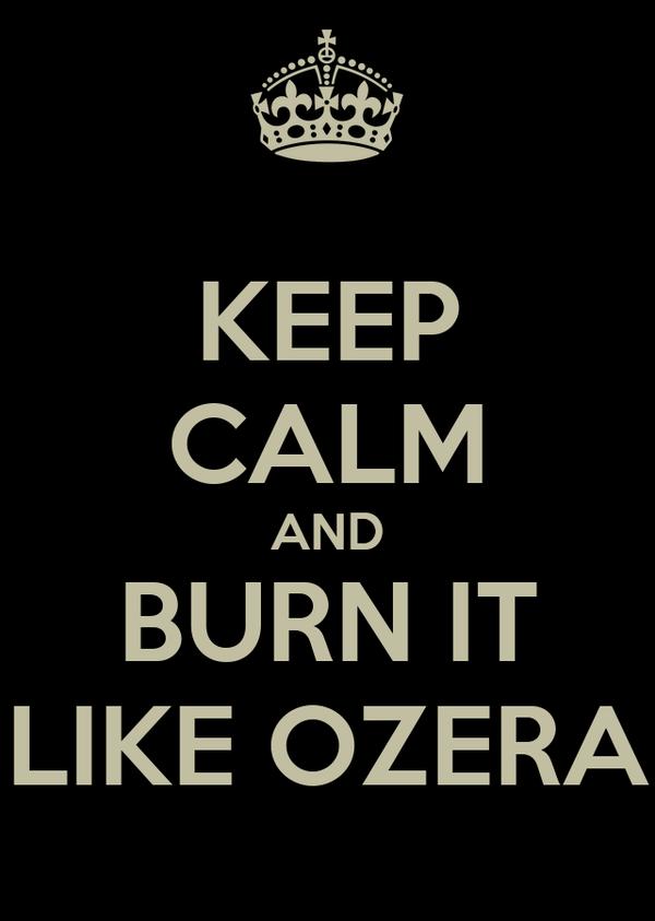 KEEP CALM AND BURN IT LIKE OZERA