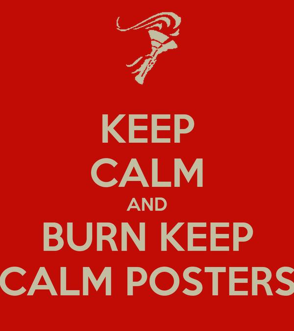 KEEP CALM AND BURN KEEP CALM POSTERS