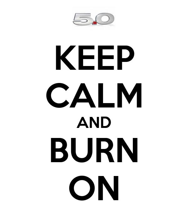 KEEP CALM AND BURN ON