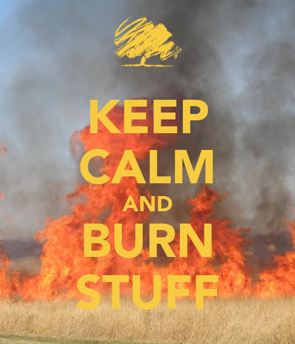 KEEP CALM AND BURN STUFF