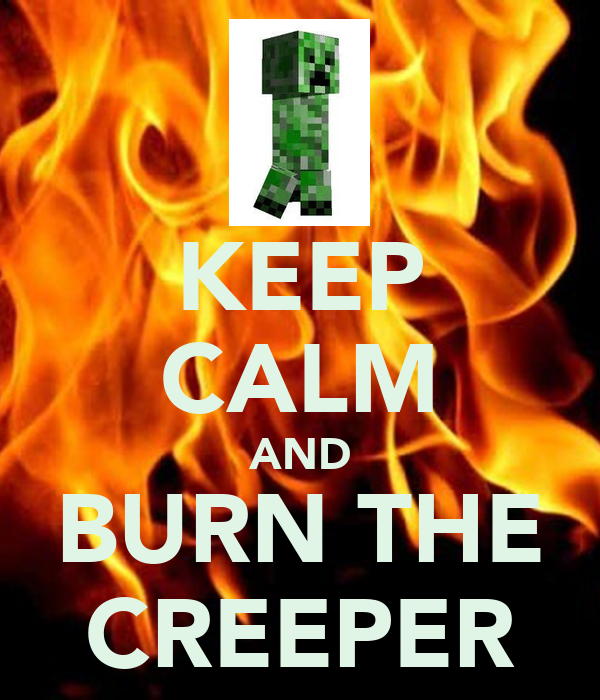 KEEP CALM AND BURN THE CREEPER