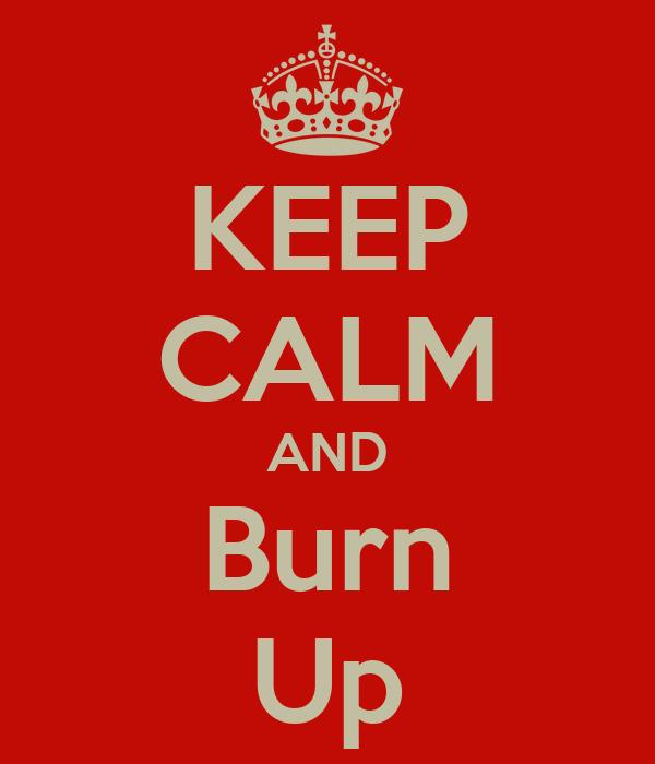 KEEP CALM AND Burn Up